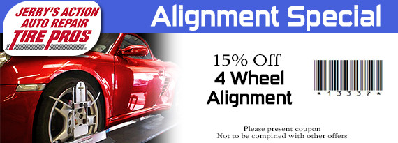 15% OFF Four Wheel Alignment